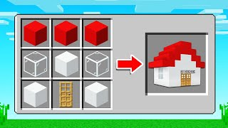 How To CRAFT a HOUSE In MINECRAFT! (any block)