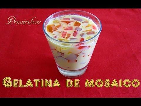 Gelatina de Mosaico Facil y Rapido / Gelatin Mosaic easy and fast * video 143 *