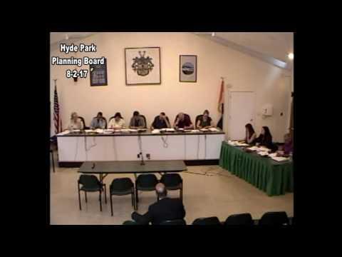 Hyde Park Planning Board 8-2-17
