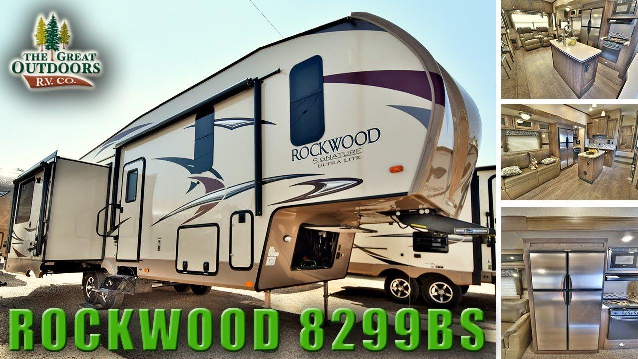 New 2018 rockwood 8299bs rear living room island kitchen - Front living room fifth wheel models ...