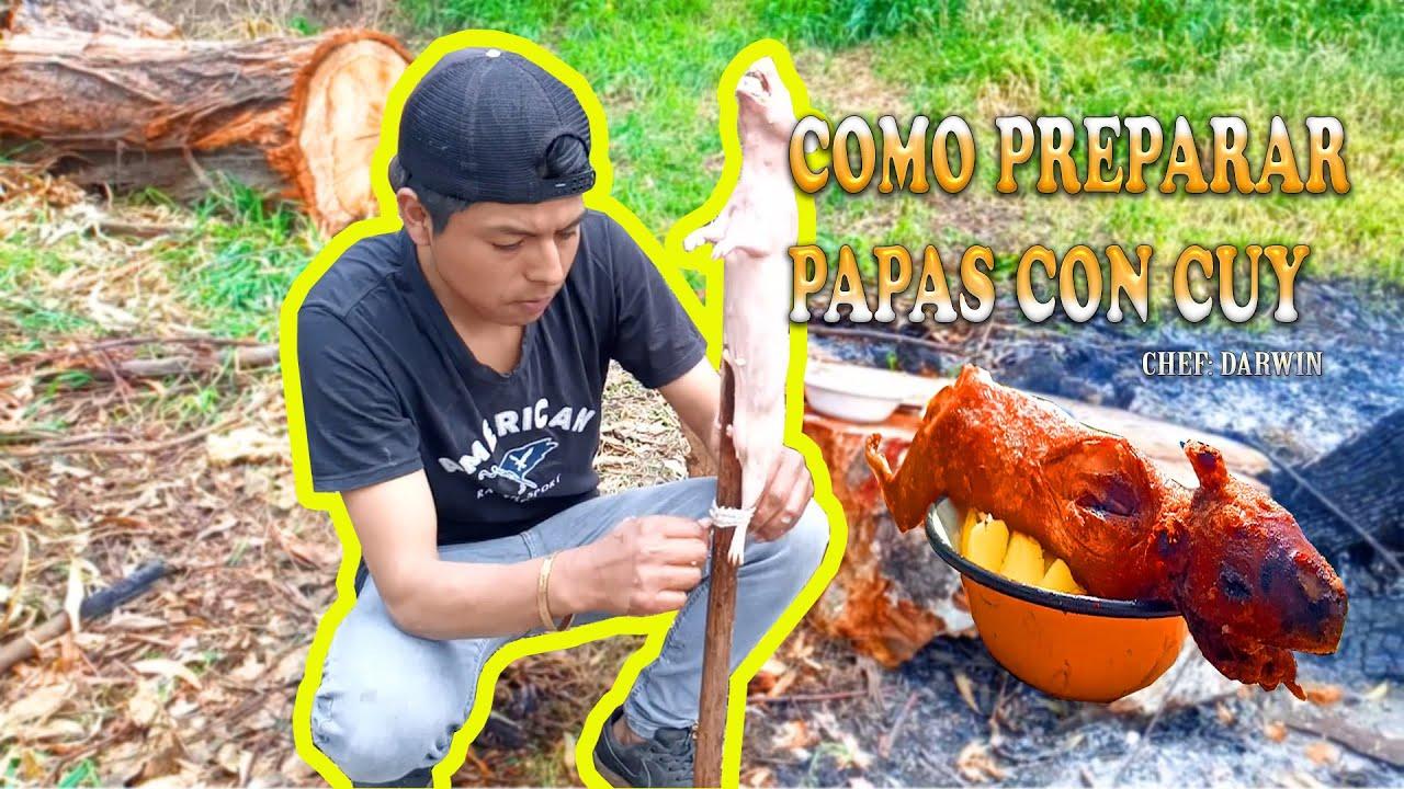 APRENDE A COCINAR PAPAS CON CUY    CHEF_DARWINISMO