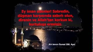 Al-i imran suresi Türkçe meal 195, 196, 197, 198, 199 ve 200, ayetler