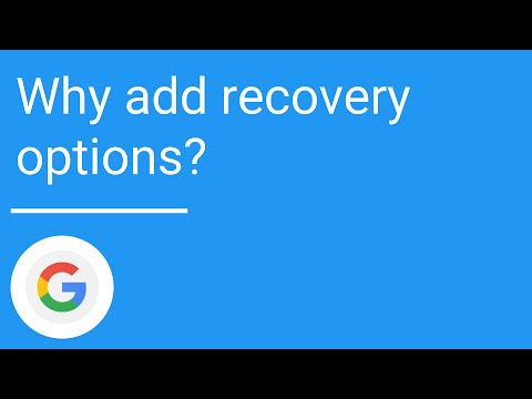 Why add recovery options?