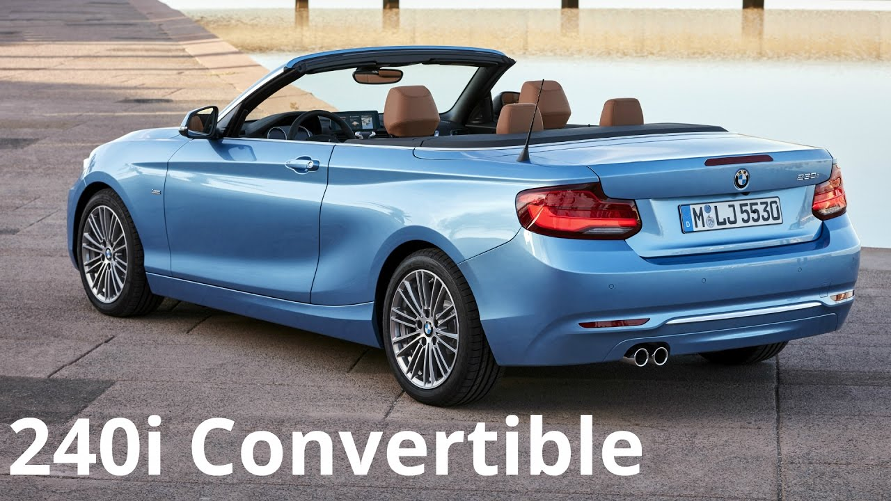 2017 bmw 230i convertible luxury line driving pleasure youtube. Black Bedroom Furniture Sets. Home Design Ideas