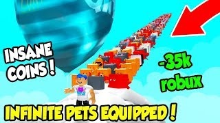 BUYING THE INFINITE ACTIVE PETS GAMEPASS IN BALLOON SIMULATOR!! *35,000 ROBUX* (Roblox)