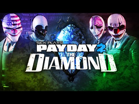 PAYDAY 2 The Diamond Golden Patchett L2A1 SMG and Rainbow Flashlight