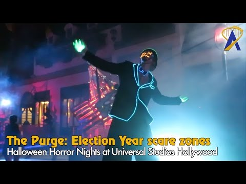 The Purge: Election Year scare zones at Universal Studios Hollywood's Halloween Horror Nights 2016