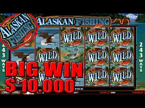 ★MUST WATCH!! $10.000 MEGA BIG WIN!!★ On Alaskan Fishing Slot!!!