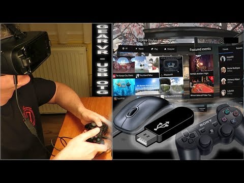 Samsung Gear VR supports external accessories - USB OTG (PS3 Controller, Keyboard, USB Drive, etc.)