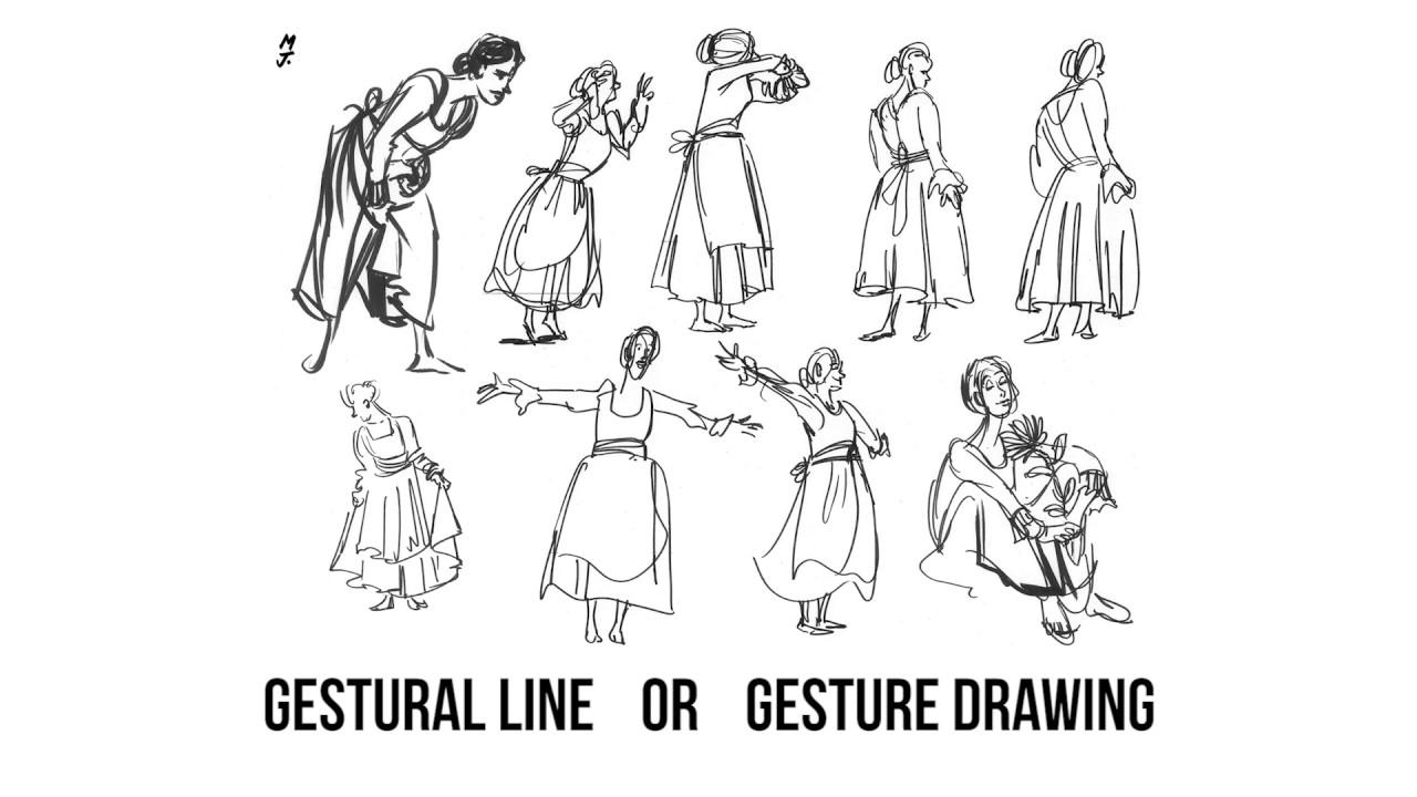 Scribble Line Gesture Drawing : Gestural line or gesture drawing art vocab definition