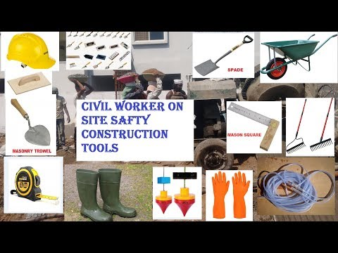 CIVIL Worker On Site Safety & Construction Tools  || Watch #civiltechconstructions