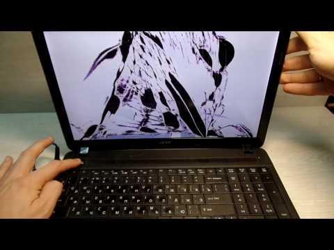 Замена разбитой матрицы на Acer Aspire E1 531