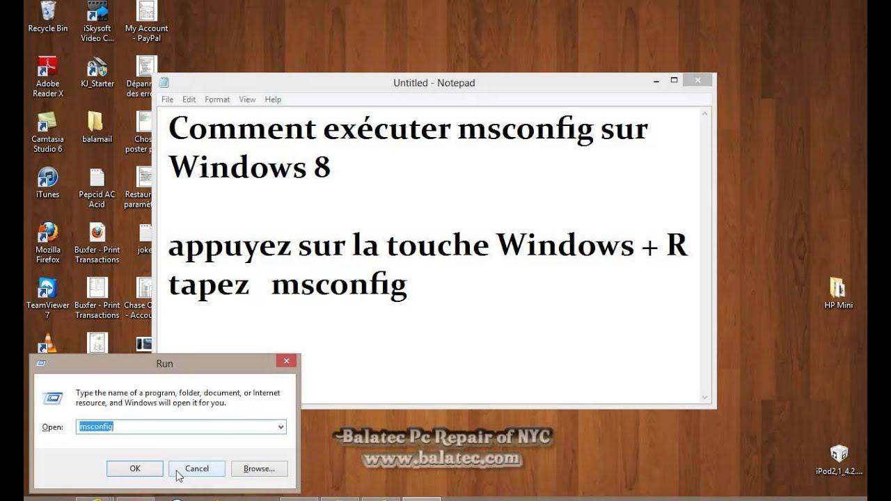 Comment ex cuter msconfig sur windows 8 francais youtube - Open office francais windows 8 ...