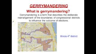 Redistricting, Apportionment, and Gerrymandering