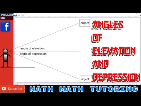 angle-of-elevation-and-angle-of-depression-explanation