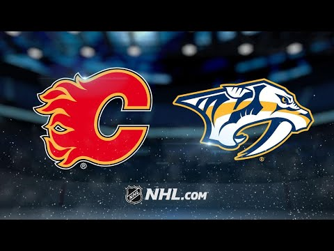 Flames rally late to defeat Preds in shootout, 3-2