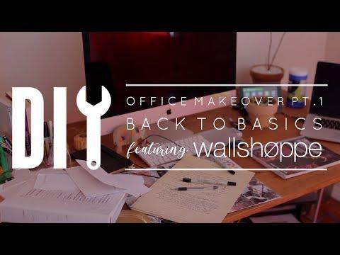 DIY Office Makeover Part 1: Back to Basics & Wallshoppe Wallpaper Install