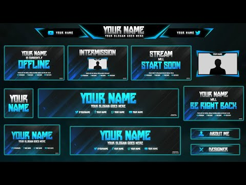 2 free twitch hitbox streaming overlay template pack 2017 twitch