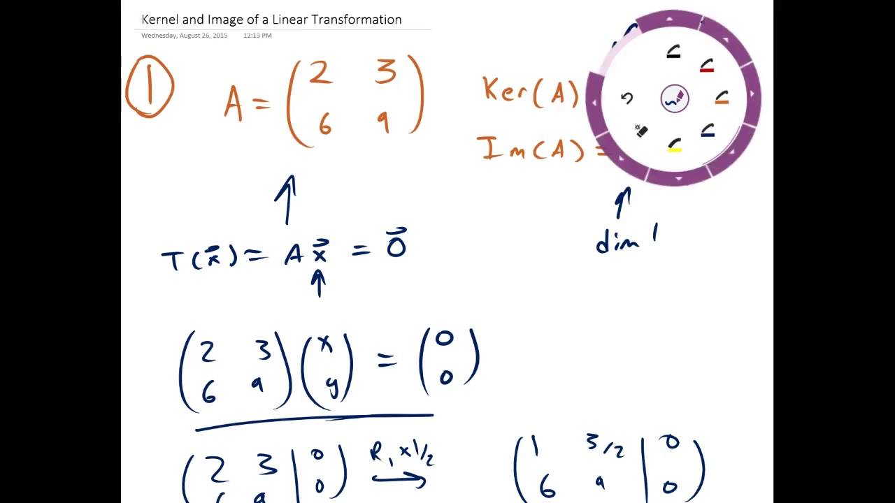 Download Kernel and Image of a Linear Transformation   Example 1   Linear Algebra   Griti