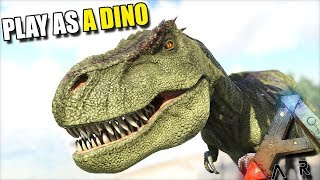 WE ATTACK A HUMAN VILLAGE   PLAY AS A DINO   ARK SURVIVAL EVOLVED