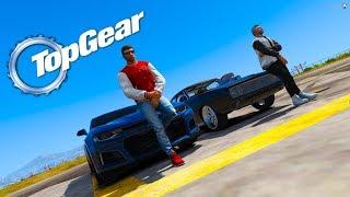 GTA V: TOP GEAR   CAMARO do MATHEUS VS DODGE CHARGER do TJ, DISPUTA DE GIGANTES!!!!! EP#02