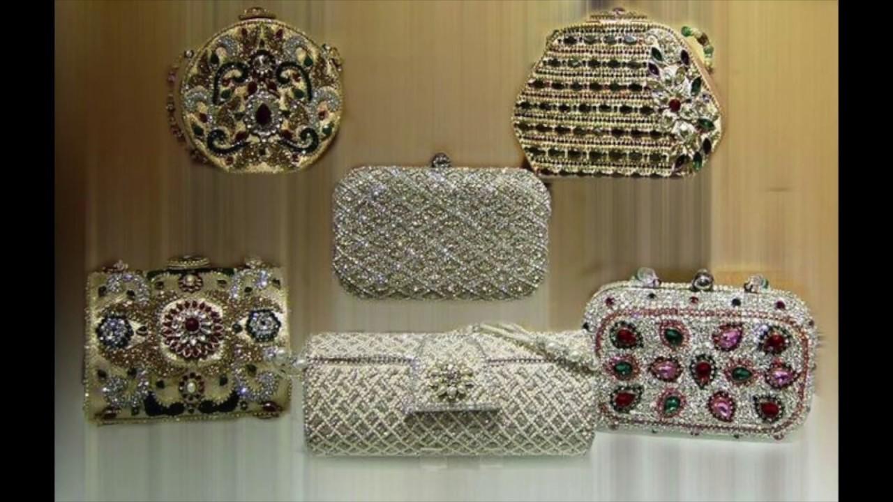 Bridal Clutches Designs Ideas For Lehenga Kundan Work Wedding Day Brides Purse