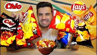 CHIO CHIPS vs. LAY'S !! (TASTE TEST CHALLENGE)