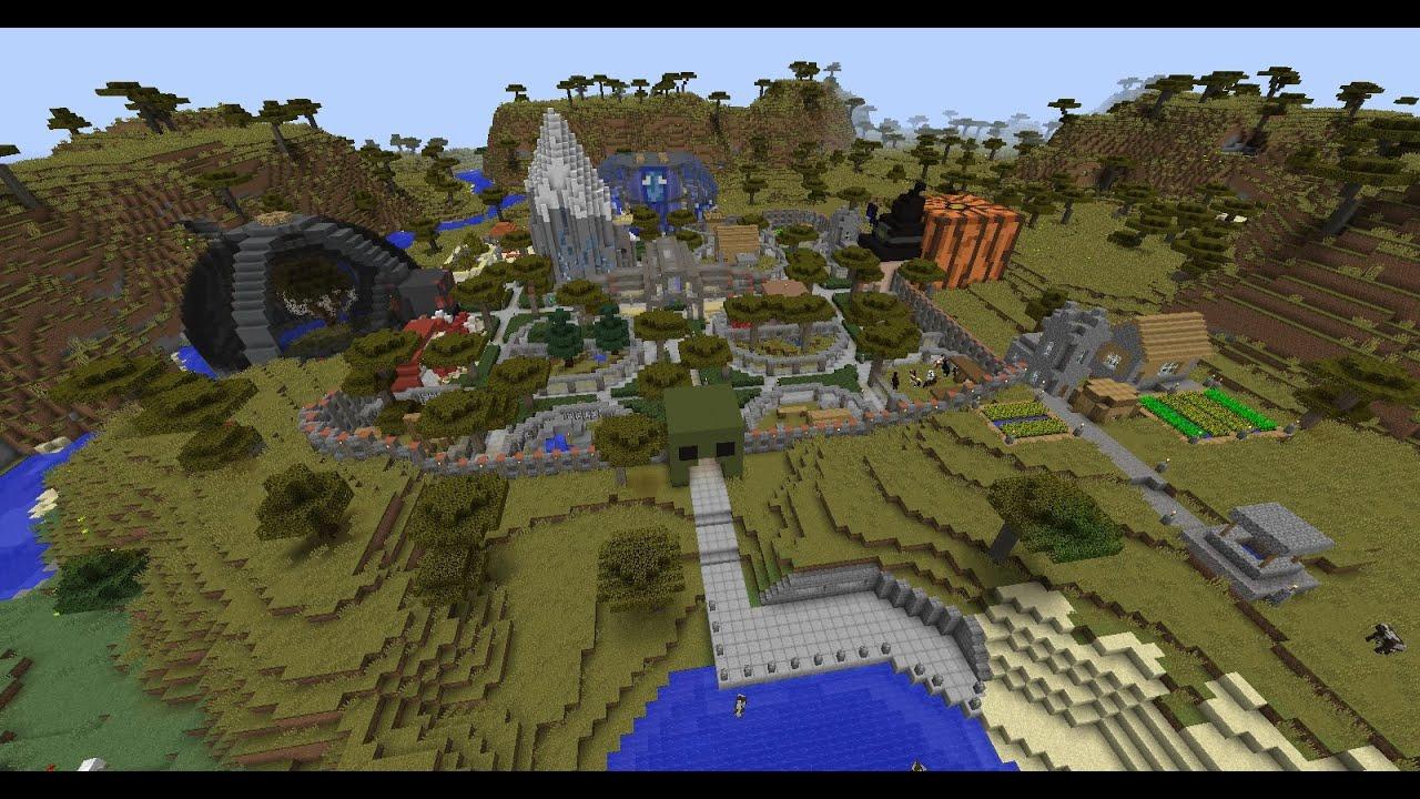 Minecraft Zoo fun park - YouTube