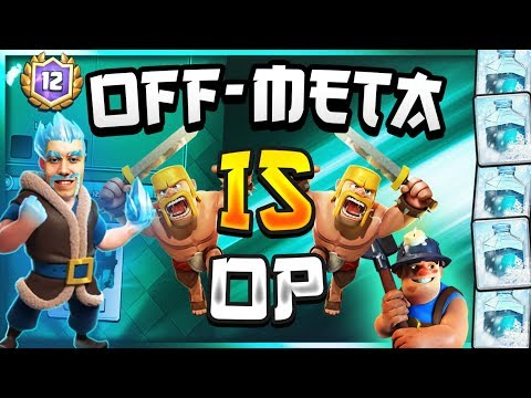 NO ONE EXPECTS THIS DECK! Off-Meta Miner Hog Rider Cycle Deck — Clash Royale