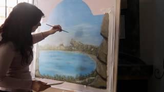 художественная Роспись Стены на заказ - Как нарисовать за 3 минуты