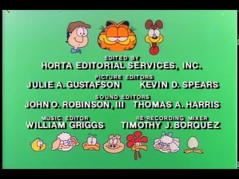 garfield and friends season 4 end credits 1991 youtube