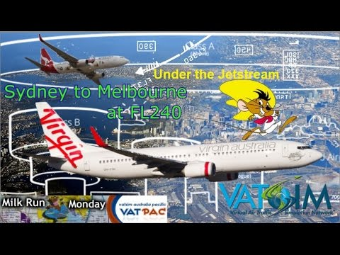 Get down low and go go go! Speedy PMDG 737, Vatsim Milkrun