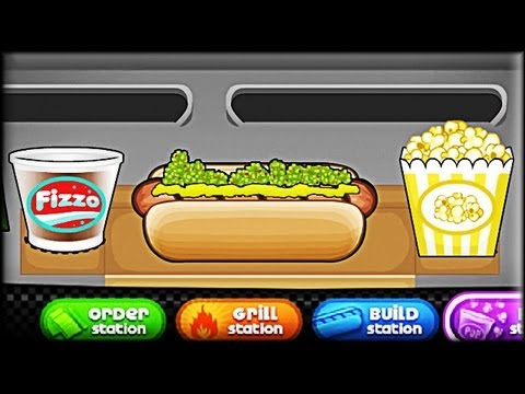 Papa's Hot Doggeria – Game Preview (First Day Tutorial)