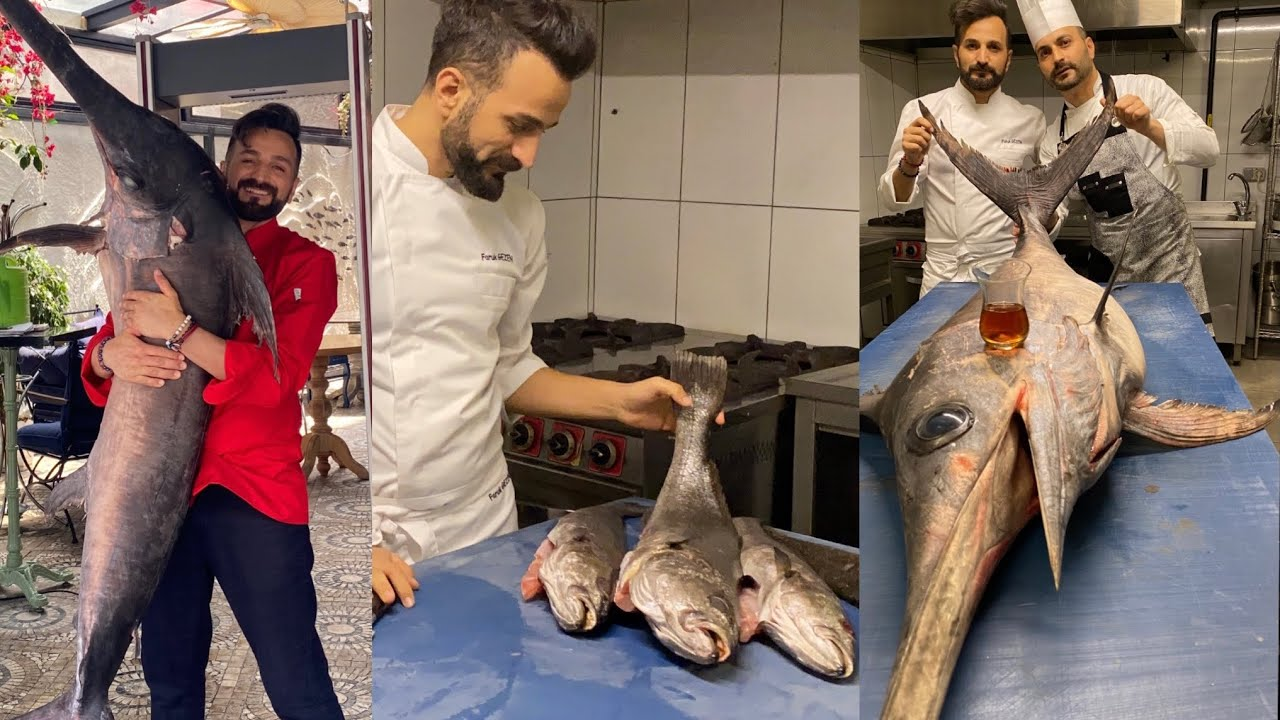 TURKİSH SEAFOOD KEBAP. By chef Faruk GEZEN. [balık adana]