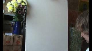 Уроки рисования маслом, мастер-класс.(УРОКИ РИСОВАНИЯ!!! Мастер-класс написания натюрморта с цветами. Экспрессивная живопись в технике