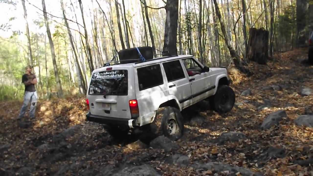 Old Florida Road MA - jeep Cherokee roll over - YouTube