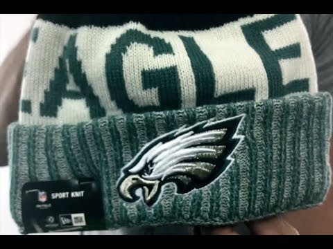 Eagles  2017 STADIUM BEANIE  Green Knit Hat by New Era - YouTube 73a19cd77