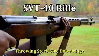 SVT-40 Rifle | Shooting Steel Core Downrange