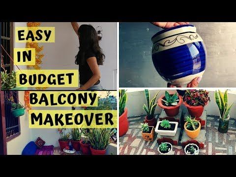 EASY IN BUDGET BALCONY DECOR IDEAS | LOW MAINTENANCE FLOWERS FOR BALCONY #SUCCULENTS| PRIYANKA MEHRA