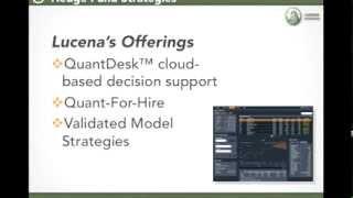Lucena Webinar: Best Strategies of 2013