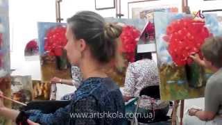 Мастер класс живописи Елены Ильичевой