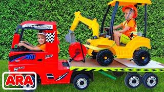 ركوب نيكي على الشاحنة سحب ولعب بيع السيارات لعبة للأطفال