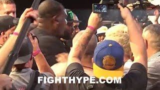 (SH*T JUST GOT REAL) MAYWEATHER'S SECURITY AND TEAM MCGREGOR HEATED ALTERCATION AT NY PRESSER
