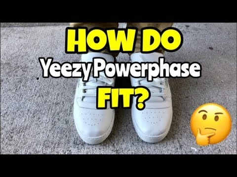 4876184ee68 How do Yeezy Powerphase fit - YouTube