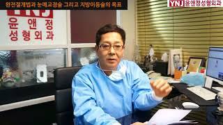 완전절개법과 눈매교정술 그리고 지방이동술의 목표