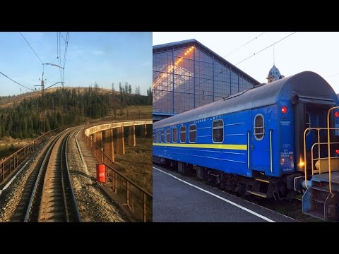 Train Kiev - Budapest in Ukrainian Sleeping Car / Поезд Киев - Будапешт Вагон СВ