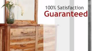Guamuchil 6 Drawer Dresser With Mirror - Lonestarwesterndecor.com