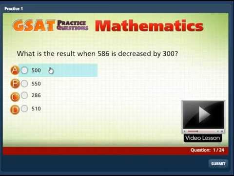 GSAT Mathematics Preview