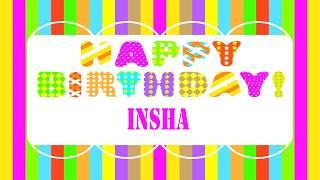 Insha Birthday Wishes & Mensajes