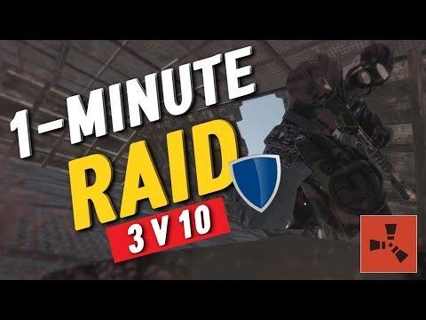 RUSTㆍThe FASTEST Raid Defense - 3v10 VANILLA [1/2]